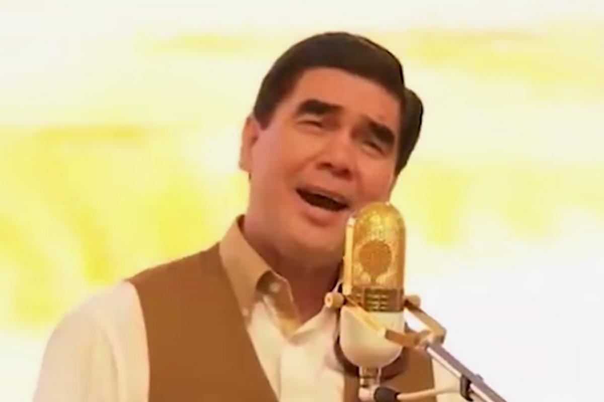Президент Туркмении хочет на эстраду (видео)