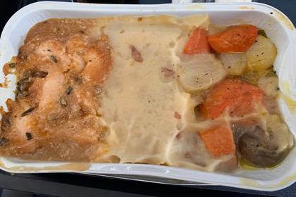 Британец пристыдил авиакомпанию за собачью еду