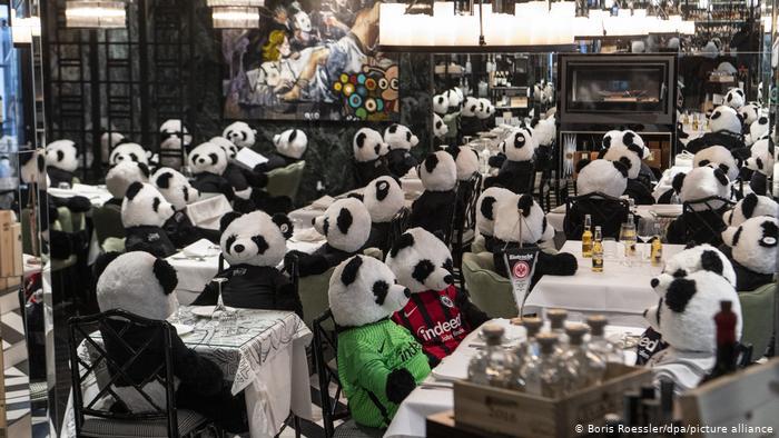 Немецкий ресторан предлагает купить панду